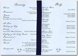 wedding program layouts