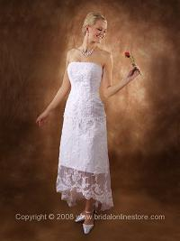 Beach Casual Wedding Dress - Strapless