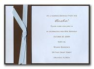 Light Blue and Chocolate Wedding Invitation