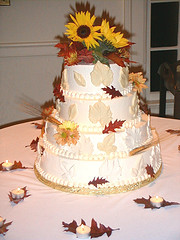 Fall Autumn Wedding Cake