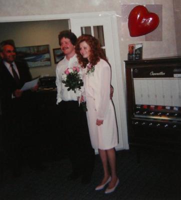 Our original wedding photo