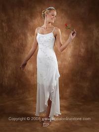Beach Casual Wedding Dress - Spaghetti Straps