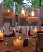 Hurricane Wedding Centerpiece